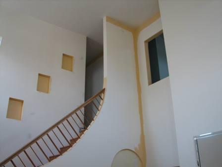 Interior-Painting-Project-Before-Stairwell-and-Wall